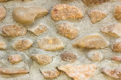 Parede de pedra do mosaico do Grunge Fundo e textura para o texto ou o ima Foto de Stock Royalty Free