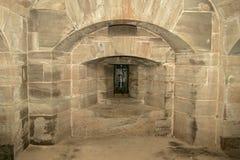 Parede de pedra em um castelo imagens de stock