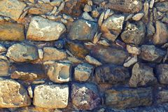 Parede de pedra, fundo, textura ou teste padrão natural velho antigo Textura rústica imagem de stock royalty free