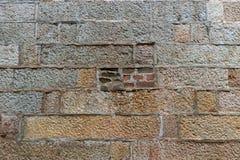 Parede de pedra histórica com os tijolos em Tai Kwun Hong Kong fotografia de stock royalty free
