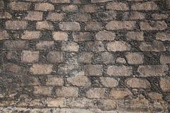 Parede de pedra imagem do trabalho de um pedreiro masonry Foto de Stock