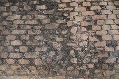Parede de pedra imagem do trabalho de um pedreiro masonry Imagens de Stock