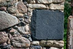 Parede de pedra, lugar livre para o texto e ilustrações Informação e fundo do mercado fotos de stock royalty free