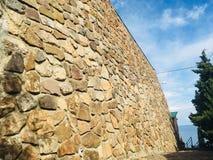 Parede de pedra majestosa em Crimeia fotos de stock