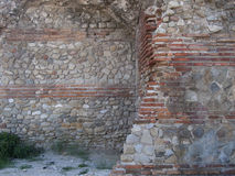 Parede de pedra medieval Fotos de Stock