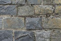 Parede de pedra mossy velha Fotos de Stock