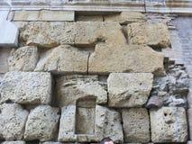 Parede de pedra os tempos de Roman Empire imagem de stock