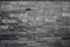Parede de pedra preta Imagem de Stock