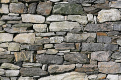 Parede de pedra seca foto de stock