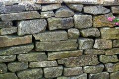 Parede de pedra seca Fotos de Stock