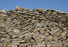 Parede de pedra seca imagens de stock