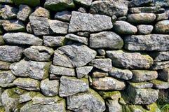 Parede de pedra seca inglesa Fotos de Stock Royalty Free
