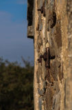 A parede de pedra traseira da descarga da munição em Bathurst Fotos de Stock