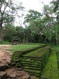 Parede de pedra velha em Sri Lanka Fotos de Stock