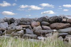 Parede de pedra velha no condado Kerry Ireland Imagens de Stock