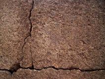 Parede de pedra velha rachada Imagens de Stock