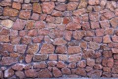 Parede de pedra vermelha Imagens de Stock