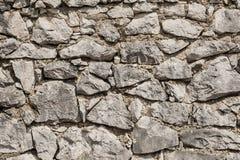 Parede de pedras cinzentas Fotografia de Stock