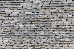 A parede de pedras do rio Imagem de Stock