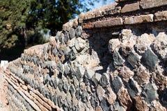 Parede de perímetro de uma casa de Roma antiga com a disposição do imagem de stock royalty free