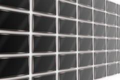 Parede de tevês do LCD Imagem de Stock