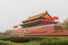 Parede de Tiananmen a Cidade Proibida Fotografia de Stock