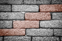 Parede de tijolo áspera Fotografia de Stock