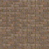 Parede de tijolo áspera de Brown Textura sem emenda de Tileable Imagens de Stock