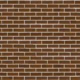 Parede de tijolo áspera de Brown Textura sem emenda de Tileable Foto de Stock