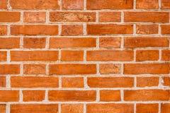 Parede de tijolo alaranjada Imagens de Stock Royalty Free