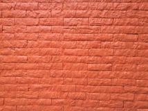 Parede de tijolo alaranjada Foto de Stock Royalty Free
