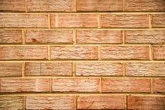 Parede de tijolo alaranjada Foto de Stock