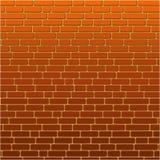 Parede de tijolo alaranjada pintada do fundo Fotografia de Stock Royalty Free