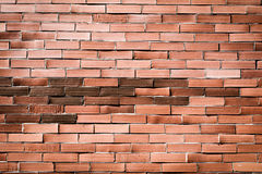 Parede de tijolo alaranjada vermelha para o fundo 2 Imagens de Stock