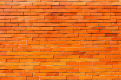 Parede de tijolo alaranjada vermelha para o fundo 1 Imagem de Stock