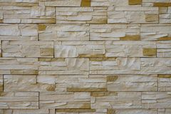 Parede de tijolo amarela, textura, fundo imagem de stock