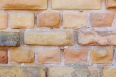 Parede de tijolo amarela velha Foto de Stock Royalty Free