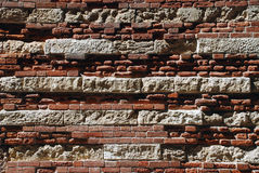 Parede de tijolo antiga fotografia de stock royalty free