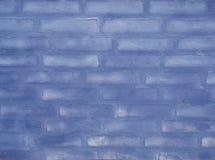 Parede de tijolo azul Fotos de Stock