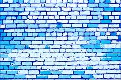 Parede de tijolo azul Foto de Stock Royalty Free