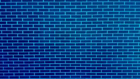 Parede de tijolo azul com textura do fundo da pintura da casca Imagens de Stock Royalty Free