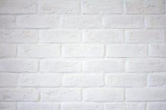 Parede de tijolo branca Parede de tijolo branca fotografia de stock