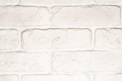Parede de tijolo branca Foto de Stock