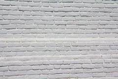 Parede de tijolo branca Imagens de Stock