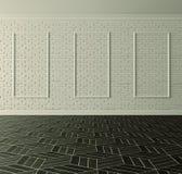 Parede de tijolo branca clássica Foto de Stock