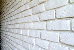 Parede de tijolo branca com sombras fotos de stock royalty free