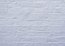 Parede de tijolo branca, textura Imagens de Stock