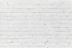 Parede de tijolo branca. Textura sem emenda da foto Imagens de Stock