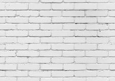 Parede de tijolo branca, textura sem emenda do fundo imagens de stock royalty free