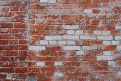 parede de tijolo Branco-vermelha Imagem de Stock Royalty Free